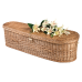 """18"""" Infant Woven Willow Caskets - Includes Personalized Bamboo Plaque - Ground Shipping Included"""