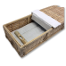 Simple Bamboo Coffin - Includes Personalized Bamboo Plaque - Ground Shipping Included