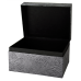 Pet Memory Chest - Embossed Metallic Black